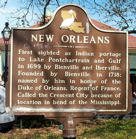 New Orleans historical marker