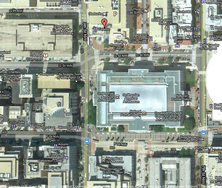 Google Maps image of 9th & G