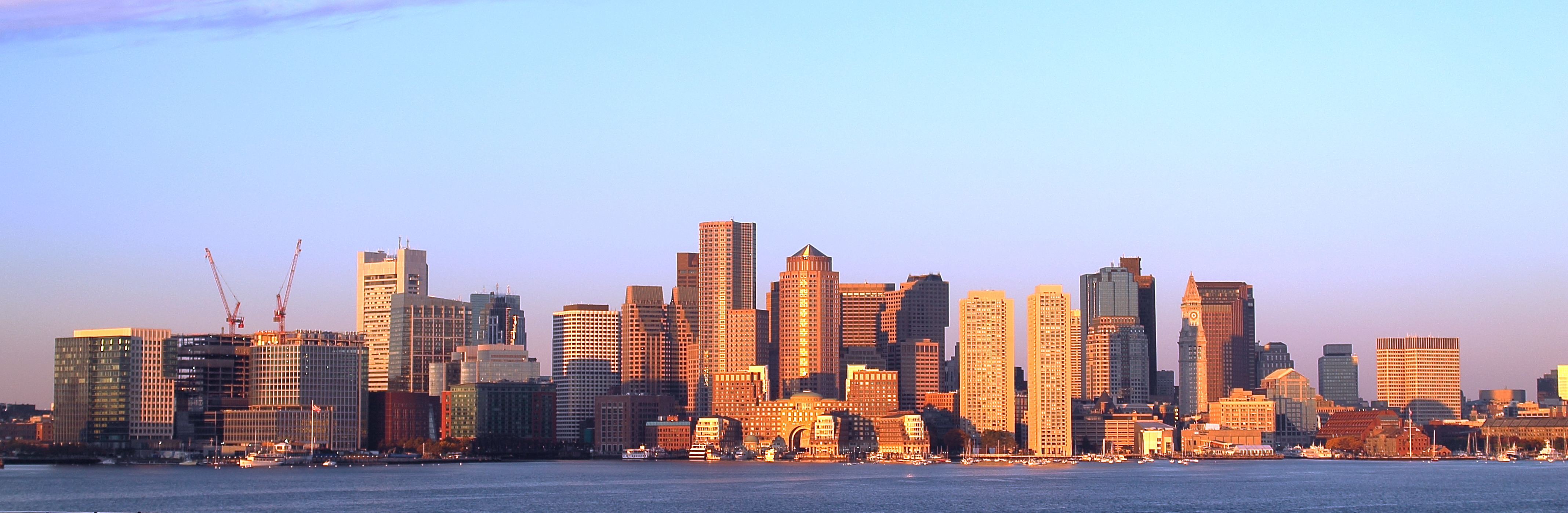 A view of the Boston downtown area