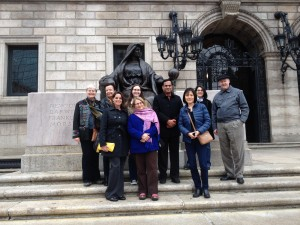 APLIC members in front of the Boston Public Library